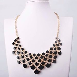 Jewelry - Black and Gold Statement Bib Necklace